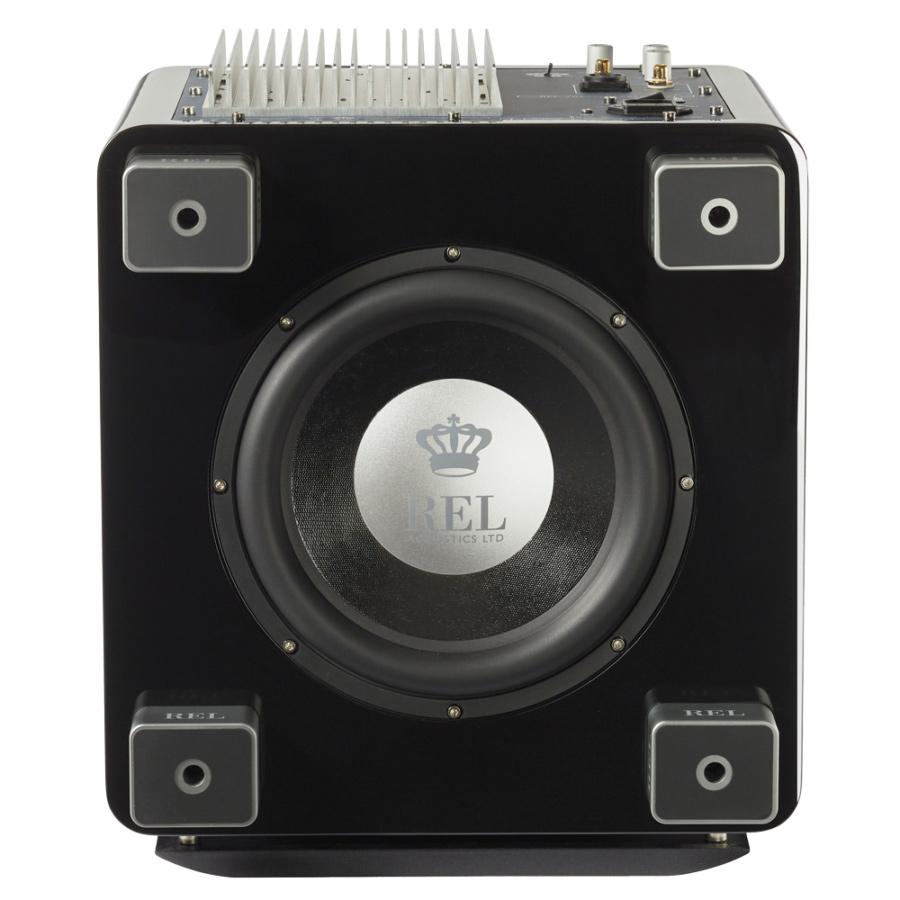 Seattle REL Acoustics T9X subwoofer black bottom view