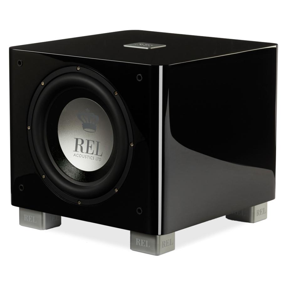 Seattle REL Acoustics T9X subwoofer black front quarter view