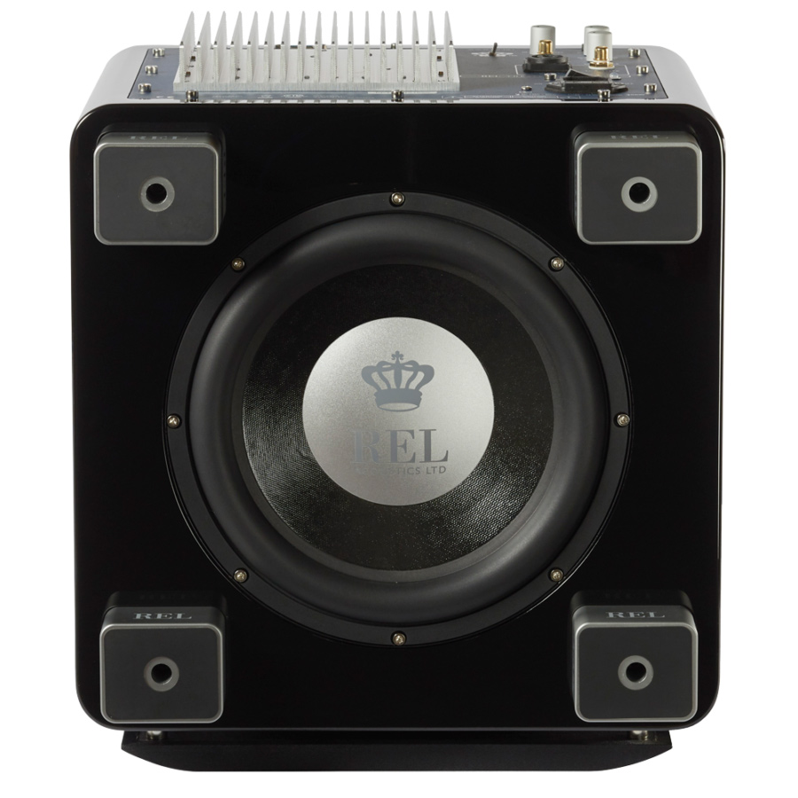 Seattle REL T7x subwoofer black bottom view
